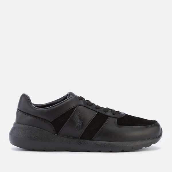 Polo Ralph Lauren Men's Cordell Leather/Suede Runner Trainers - Black/Black/Black