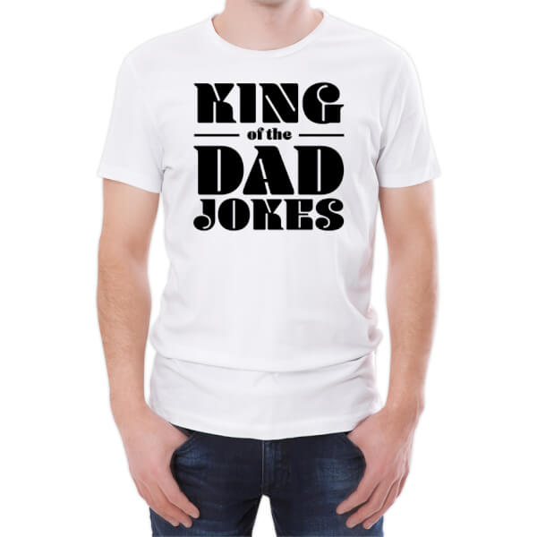 T-Shirt Homme King Of The Dad Jokes -Blanc