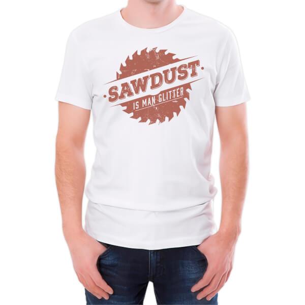 T-Shirt Homme Sawdust Is Man Glitter -Blanc