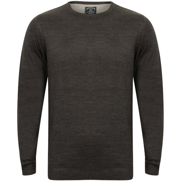 Kensington Men's Basic Crew Neck Jumper - Charcoal Marl