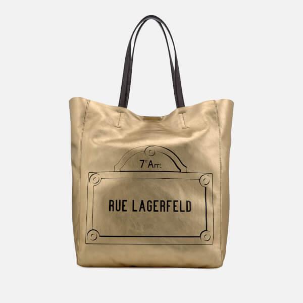 Karl Lagerfeld Women's Rue Lagerfeld Shopper Bag - Gold