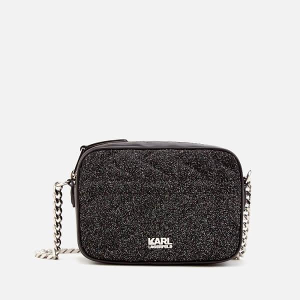 Karl Lagerfeld Women's K/Kuilted Caviar Cross Body Bag - Multi