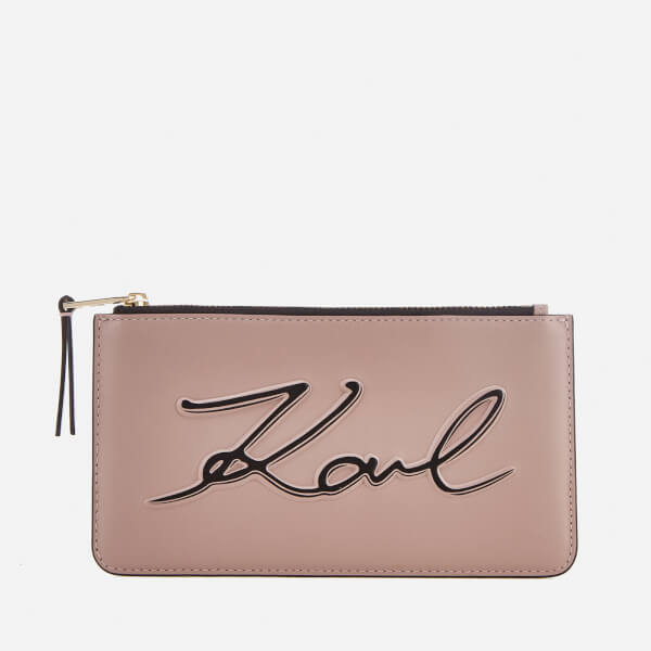 Karl Lagerfeld Women's K/Metal Signature Small Pouch Bag - Ballet
