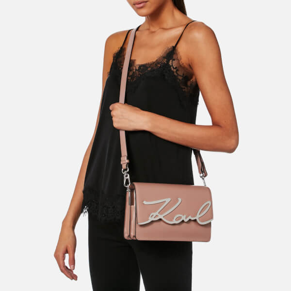 ee9d9cd51522 Karl Lagerfeld Women s K Metal Signature Shoulder Bag - Ballet  Image 3