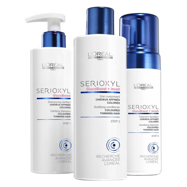 l 39 oreal professionnel serioxyl kit 2 for coloured thinning hair 615ml buy online at facialco. Black Bedroom Furniture Sets. Home Design Ideas