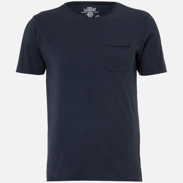 Tokyo Laundry Men's Hella Cotton Jersey T-Shirt - Dress Blue