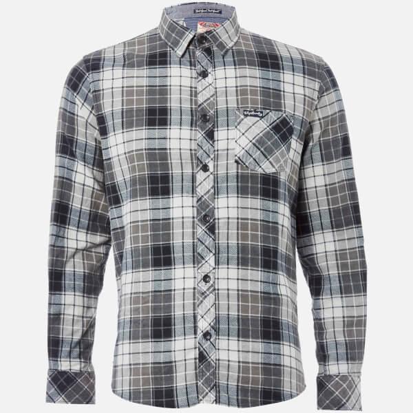 Tokyo Laundry Men's Nashville Flannel Long Sleeve Shirt - Charcoal
