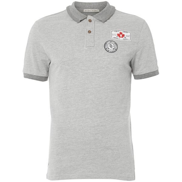 Tokyo Laundry Men's Downtown Polo Shirt - Light Grey Marl