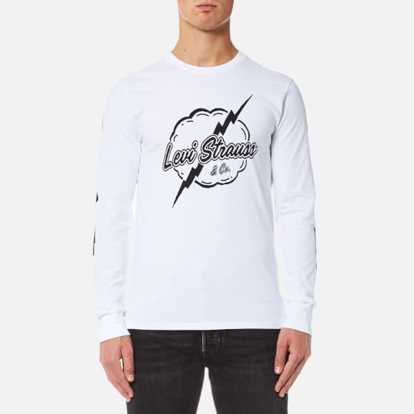 Levi's Men's Long Sleeve Graphic T-Shirt - Lightning White