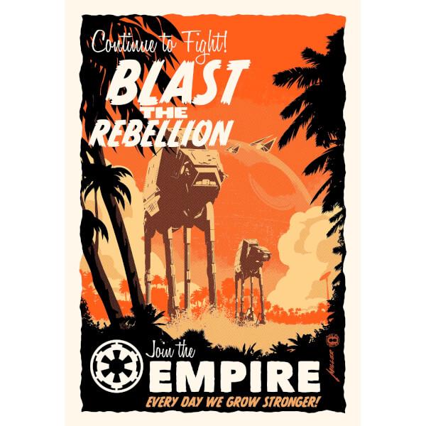 Blast the Rebellion - Zavvi Exclusive Fine Art Screen Print - By Acme Archive's Artist Brian Miller