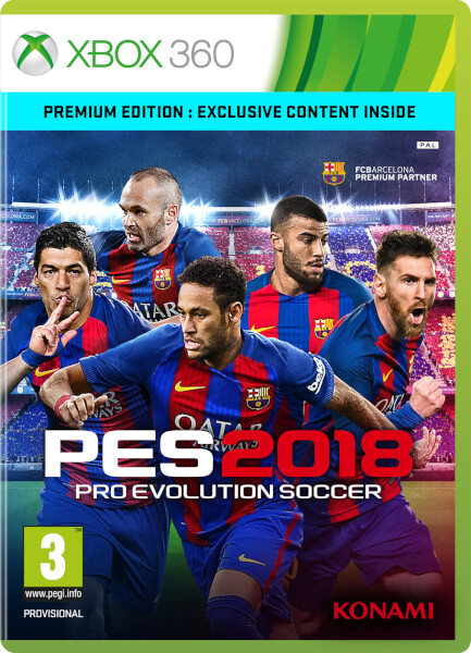 PES 2018 Premium Edition Xbox 360 | Zavvi.com