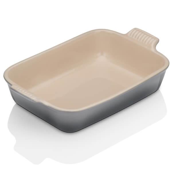 Le Creuset Stoneware Medium Heritage Rectangular Roasting Dish - Flint
