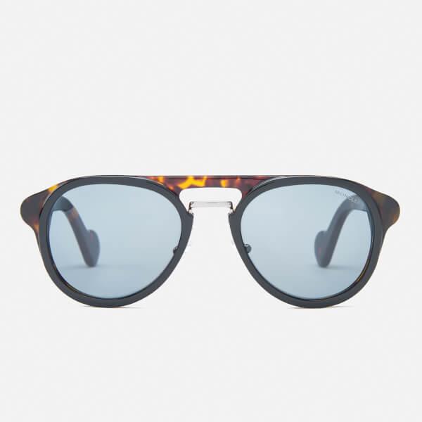 Moncler Men's Aviator Sunglasses - Black/Blue: Image 1