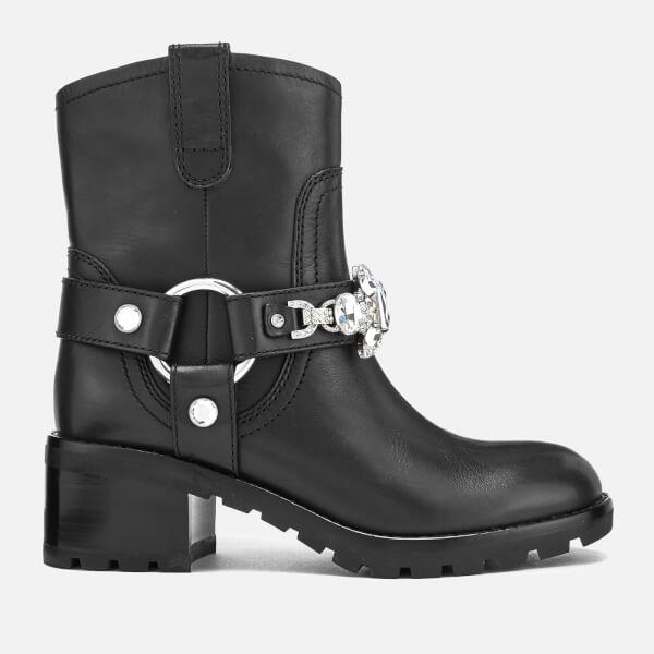 Marc Jacobs Women's Campbell Leather Embellished Biker Boots - - UK 3 NjSCBKDS
