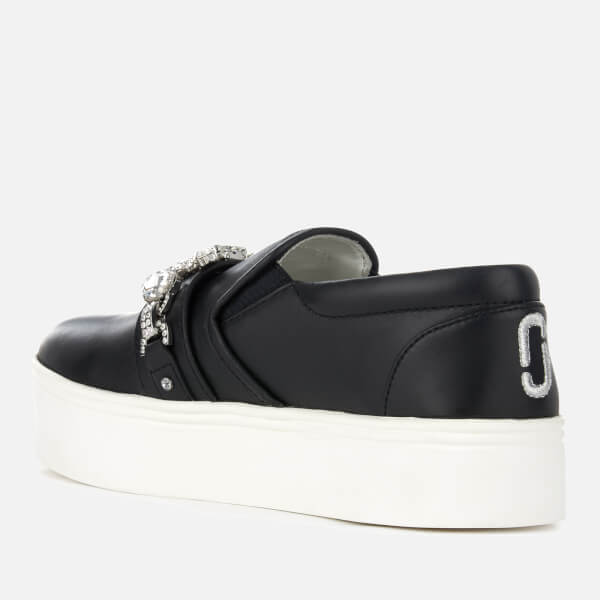 Marc Jacobs Women's Wright Leather Embellished Flatform Slip-On Trainers - - UK 6 s2D3hSGhdR