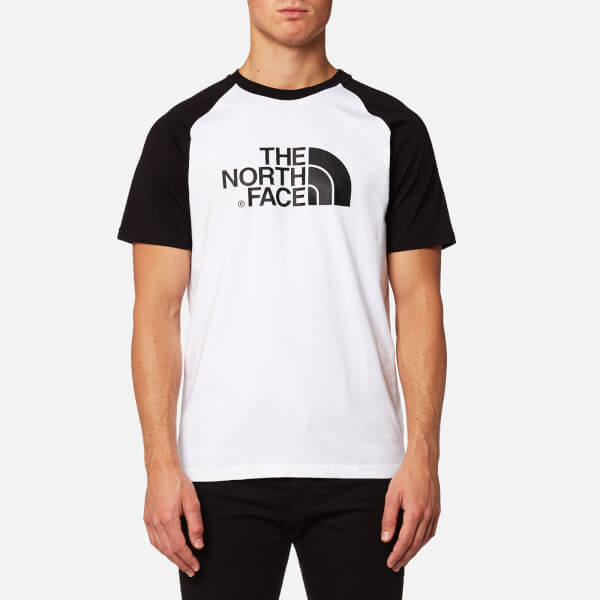 The North Face Men's Short Sleeve Raglan Easy T-Shirt - TNF White/TNF Black