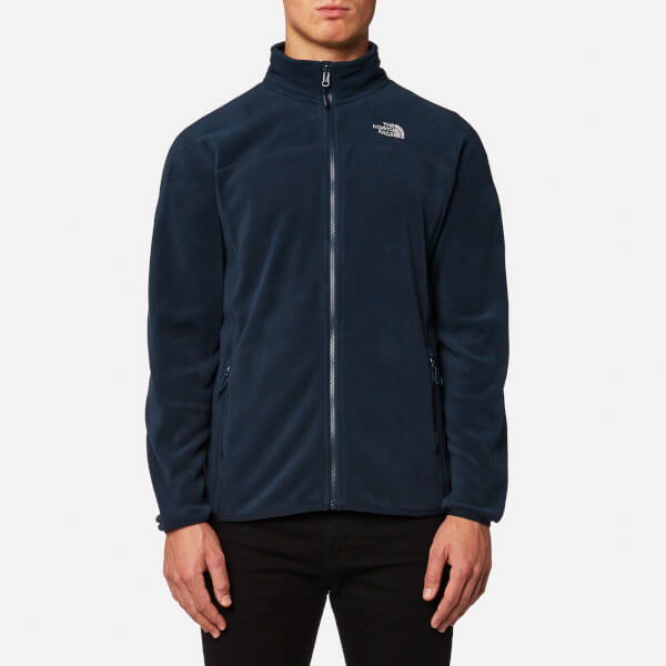 The North Face Men's 100 Glacier Full Zip Fleece Jumper - Urban Navy/Urban Navy