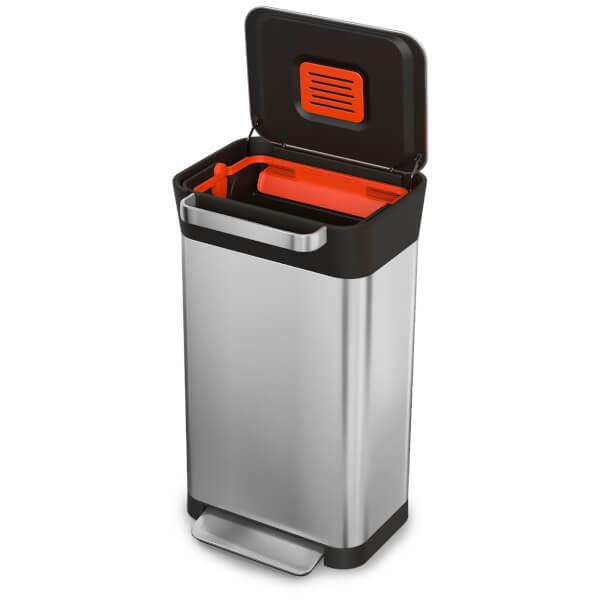 Joseph Joseph Titan Trash Compacting Bin - Stainless Steel