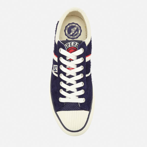 2bc2c42ae9 Superdry Men s Track and Field Hammer Low Top Trainers - Navy  Image 3