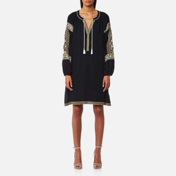 Maison Scotch Women's Embroidered Boho Dress - Night