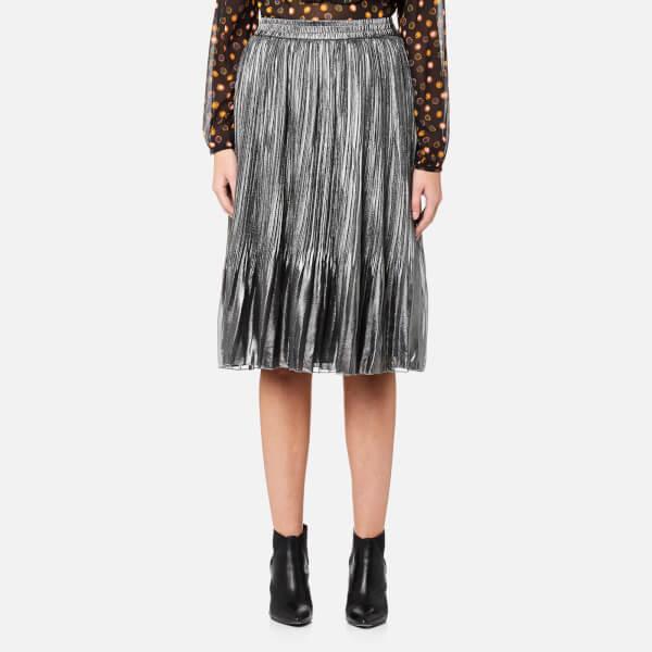 Maison Scotch Women's Pleated Skirt - Silver