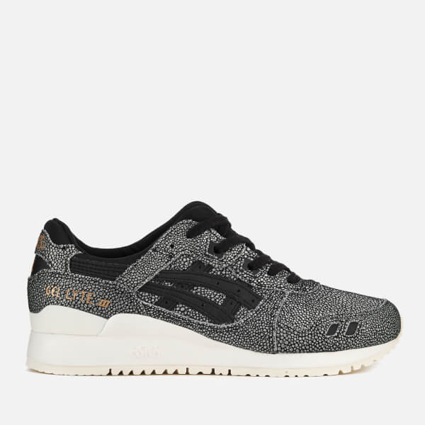 Asics Lifestyle Women's Gel-Lyte III Leather Trainers - Black/Black
