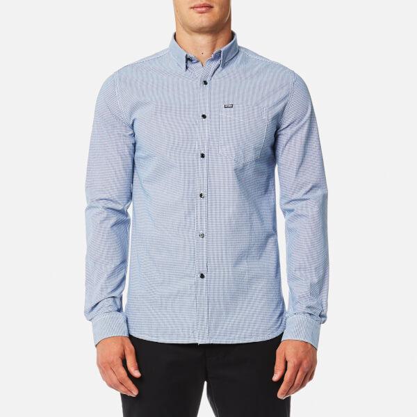 Superdry Men's Academy Button Down Long Sleeve Shirt - Tutor Gingham