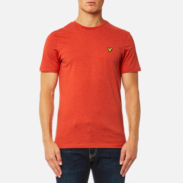 Lyle & Scott Men's Crew Neck T-Shirt - Flame Red Marl
