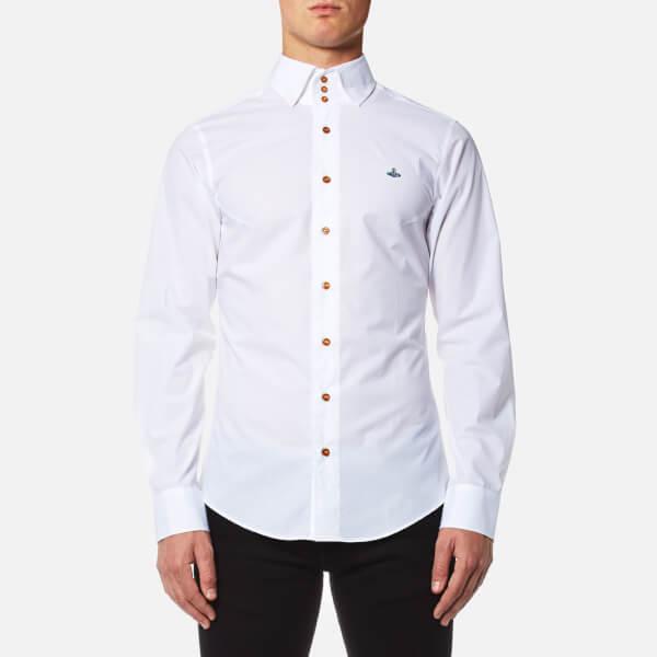 Vivienne Westwood MAN Men's Stretch Poplin Krall Three Button Shirt - White:  Image 1