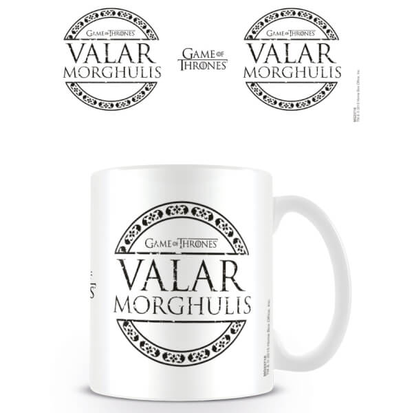 Game of Thrones Coffee Mug (Valar Morghulis)