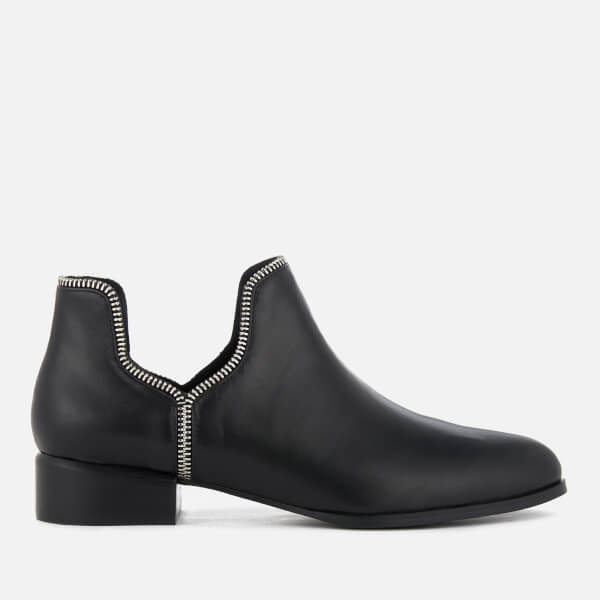 SENSO Women's Bailey VII Leather Ankle Boots - Ebony/Silver Zip - UK 5 O9Yw9R2