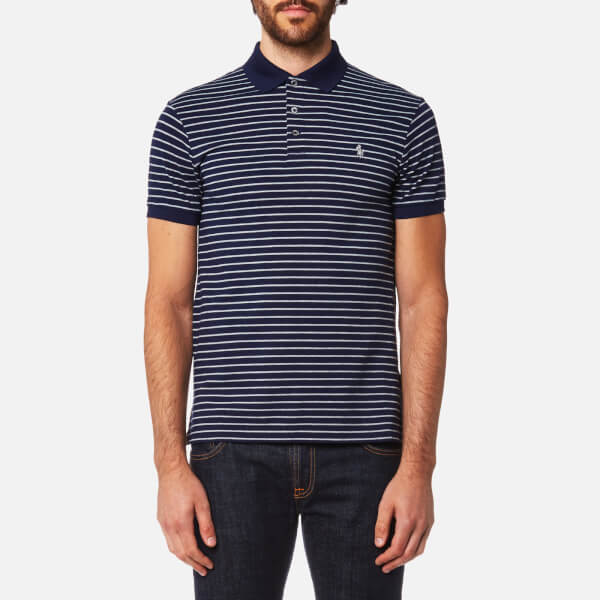 Polo Ralph Lauren Men s Stretch Mesh Stripe Polo Shirt - French Navy Andover  - Free UK Delivery over £50 b0e6b35d5
