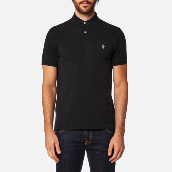 Polo Ralph Lauren Men 39 S Slim Fit Polo Shirt Black Free