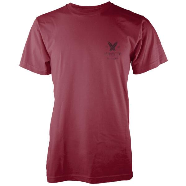 Native Shore Men's Surfs Up Pocket Print T-Shirt - Burgundy
