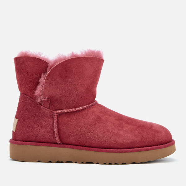 Ugg Womens Classic Cuff Mini Sheepskin Boots Garnet Free Uk