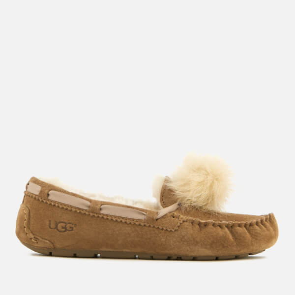 UGG Women's Dakota Moccasin Suede Slippers - Chestnut - UK 6.5 nIhOg