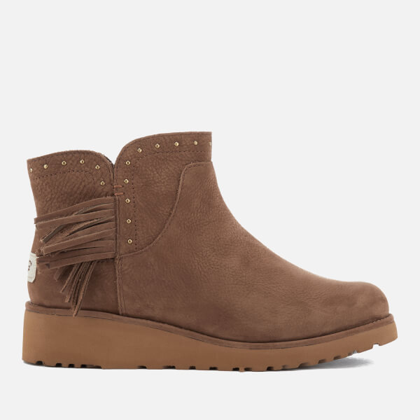 UGG Women's Cindy Leather Tassle Ankle Boots - - UK 3.5 Explore Online Limited Edition dvfRO