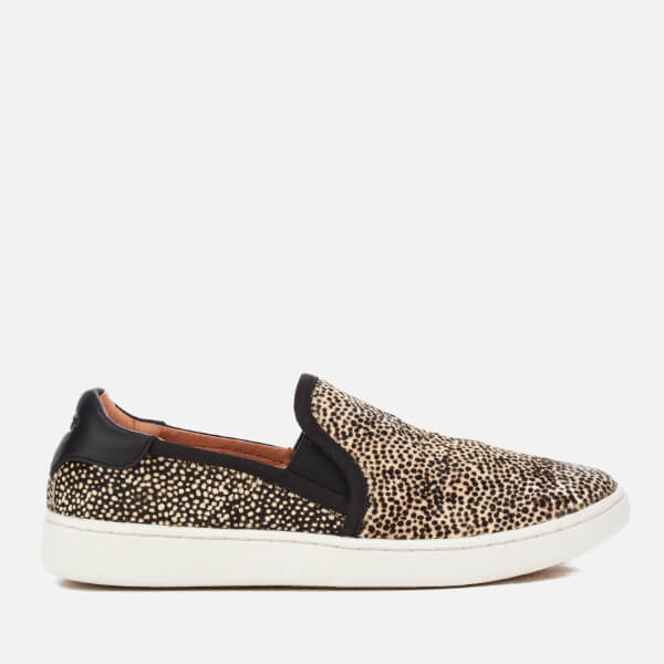 UGG Women's Cas Exotic Calf Hair Slip-On Trainers - Black/Tan Dotted