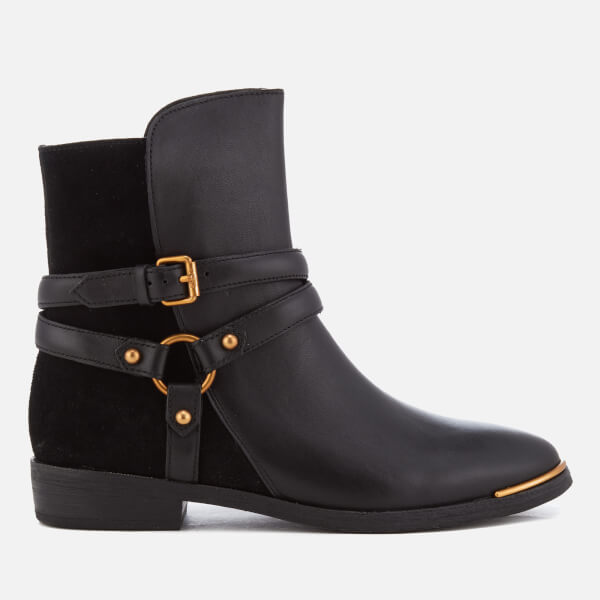 UGG Women's Kelby Leather Ankle Boots - Black: Image 1