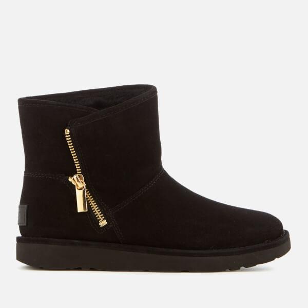 UGG Women's Kip Suede Zip Side Boots - Nero