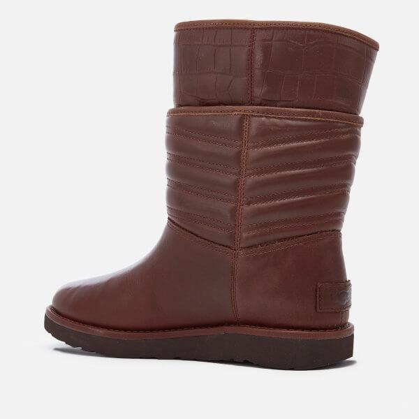 UGG Women's Aviva Classic Luxe Leather Short Boots - Stout - UK 3.5 QAhr7w