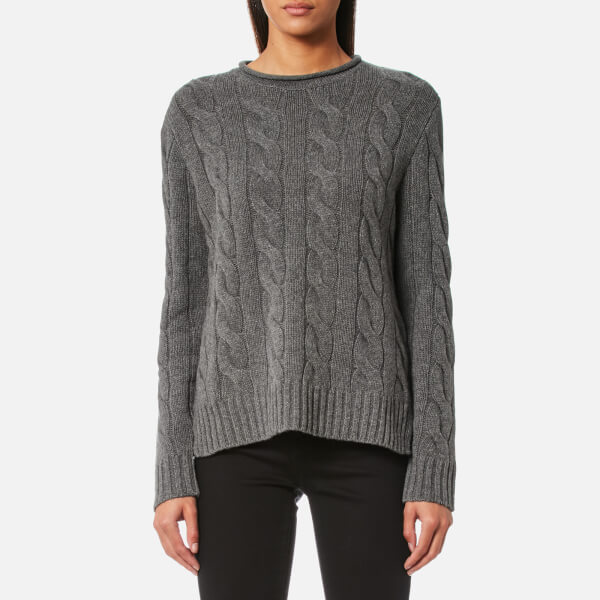Polo Ralph Lauren Women s Boxy Roll Neck Jumper - Grey - Free UK Delivery  over £50 09e039fcd1c6