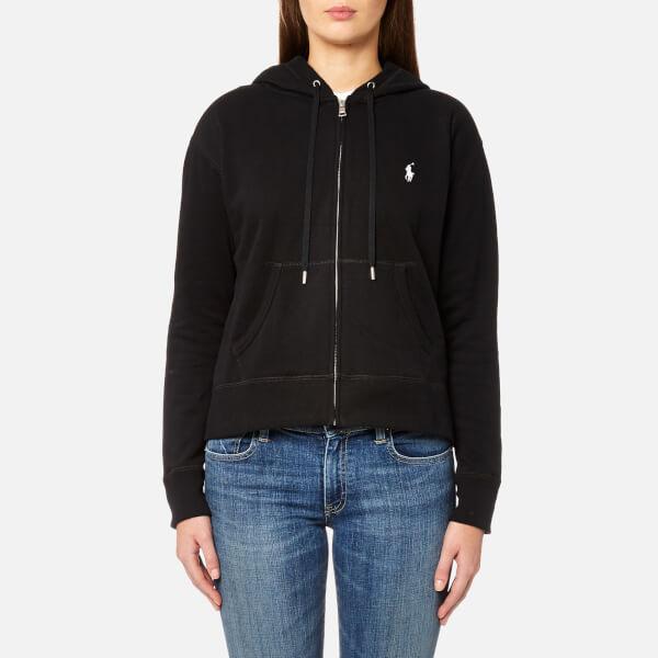 Polo Ralph Lauren Women s Hooded Pull Zip Hoody - Black - Free UK ... 6cc7a9e29288