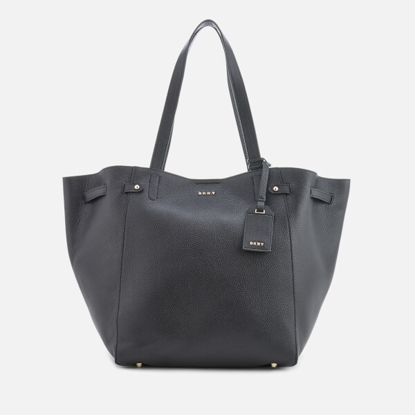 Dkny Women S Chelsea Pebbled Leather Large Tote Bag Black