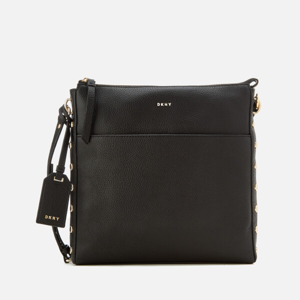 Dkny Women S Chelsea Pebbled Leather Top Zip Cross Body Bag Black