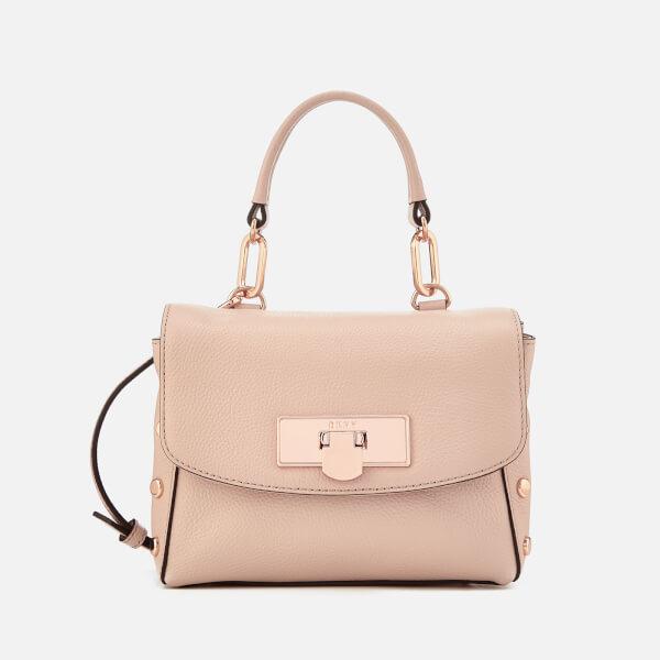 DKNY Women's Chelsea Pebbled Leather Mini Flap Shoulder Bag - Quartz