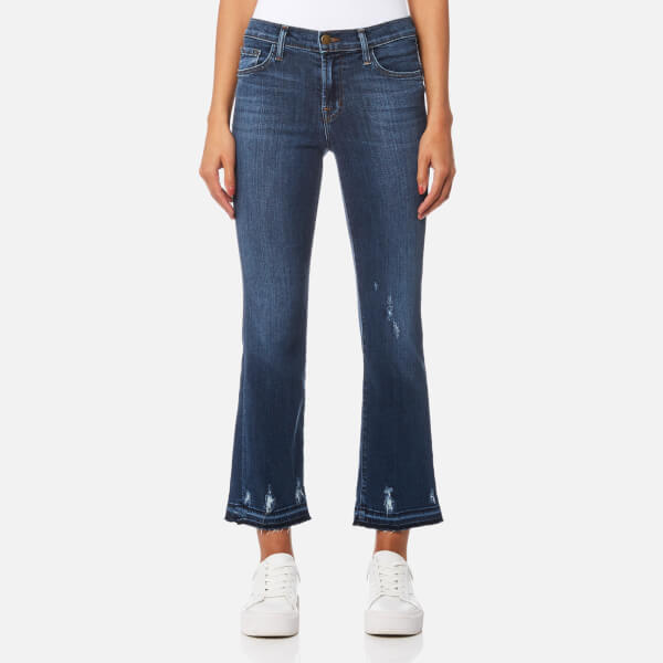 J Brand Women's Selena Mid Rise Crop Bootcut Jeans - Tonic: Image 1