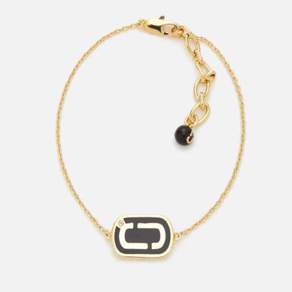 Marc Jacobs Women's Icon Enamel Bracelet - Black/Gold
