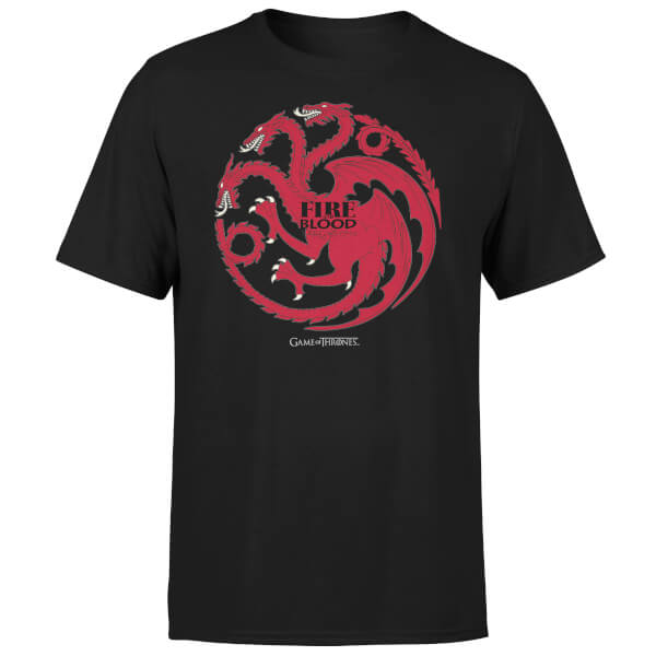 Game of Thrones Targaryen Fire and Blood Men's Black T-Shirt