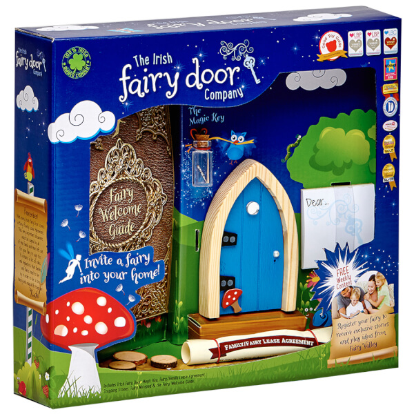 The Irish Fairy Door Company Arched Fairy Door - Blue (Slim)